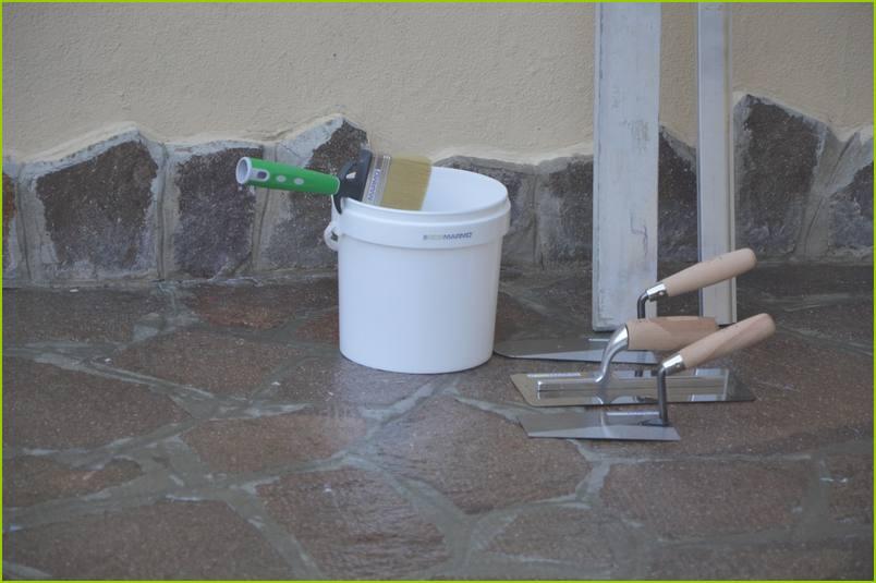 Comment poser du granulat de marbre - Outillage nécessaire