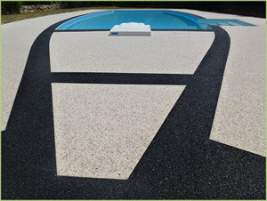 Magnifique dessin axé sur la piscine