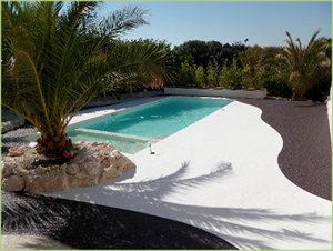 Votre petit Paradis en agrégats de marbre blanc