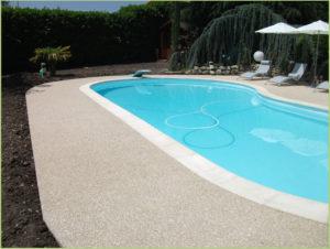 Aménagement des plages de la piscine