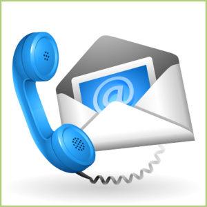 Contacts e-mail ou téléphone