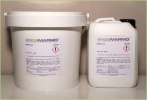 Les produits granulat de marbre - Résine polyuréthane RESIFIX 2k bicomposants
