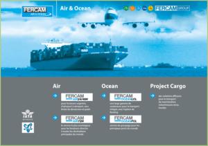 Les transports du granulat de marbre - FERCAM l'Air et l'Océan