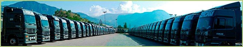 La livraison du granulat de marbre - Flotte de Camions