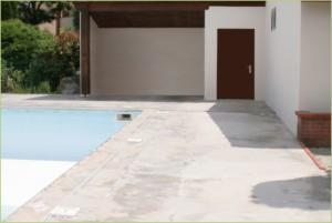 Sol décoratif drainant d'une plage de piscine (Avant)