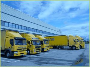 Une des flottes de camion des transports GONDRAND